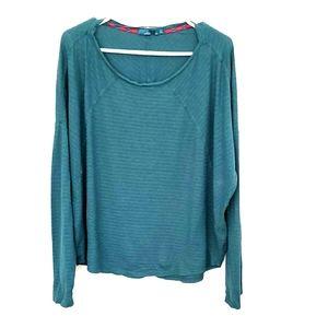 Prana long-sleeve, scoop-neck t-shirt